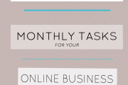 8 Simple Monthly Tasks For Your Online Business + Free Checklist